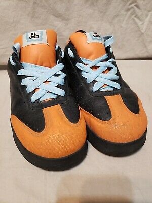 20703f6b2 Mens Size 8 Reebok Ice Cream Board Flip Pharrell BBC Skate Shoes Black  Orange