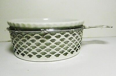 Meriden Britannia Sterling Silver #131 Pierced Holder-w/Ramekin-1895 Eagle Mark