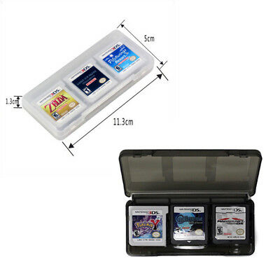 6 in1 Plastic Game Card Storage Holder Case Cover Box 3DS DSI DS NDS BDAU