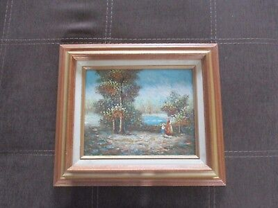 Framed Vintage Oil on Board Landscape Painting Signed by Alan Walters