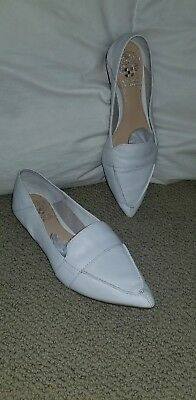 ce371bcaaec VINCE CAMUTO MAITA pointed toe white leather loafer size 6 -  35.00 ...
