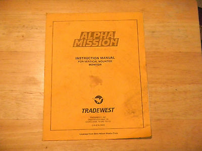 Arcade Gaming Alpha Mission Tradewest Vinatage Arcade Video Game Manual Latest Technology