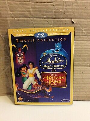 Aladdin King of Thieves/The Return of Jafar (Blu-ray/DVD, 2017) No Digital