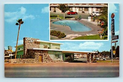 Fresno, CA - BEL AIR MOTEL & COFFEE SHOP MULTIVIEW PC - POOL & OLD CARS - G2