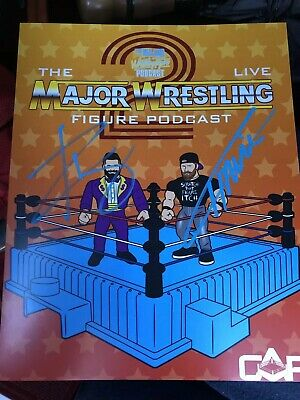 SIGNED Major Wrestling Figure Podcast Live Show 8x10 Zack Ryder Wrestlemania