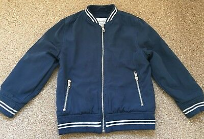 Girls Matalan Blue Bomber Jacket Zip Up Casual Age 7 Years B34