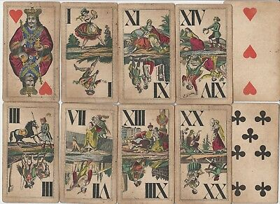 ❤️ Altes Tarock Kartenspiel Josef Glanz Wien Playing Cards Industrie &Glück 1860