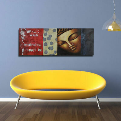 Framed Hand-painted Modern Abstract Decor Buddha Wall Art Oil Painting On Canvas