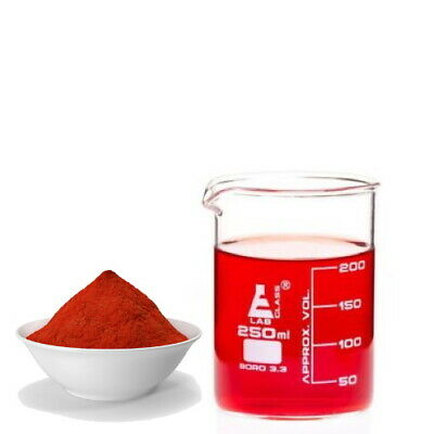 Red 2G E128 water soluble food cosmetic dye colour colouring powder - 100 grams