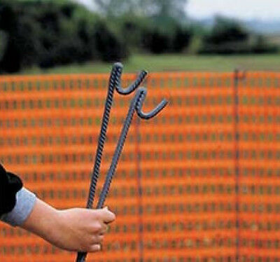 50 x 1.3m METAL STEEL FENCING PINS ROAD PIN STAKES POSTS for Temporary Fencing