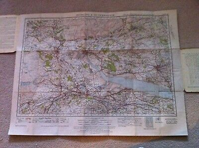 Vintage 1945 Ordnance Survey one inch Map  - Stirling & Dunfermline - Sheet 67