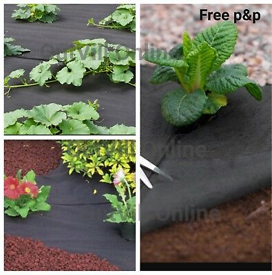 Garden Weed Control Fabric Cover Membrane Driveway Ground Sheet Landscape BB