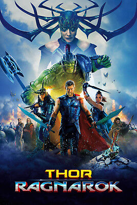 Thor Ragnarok 1 Movie Poster Canvas Picture Art Print Premium Quality A0 - A4