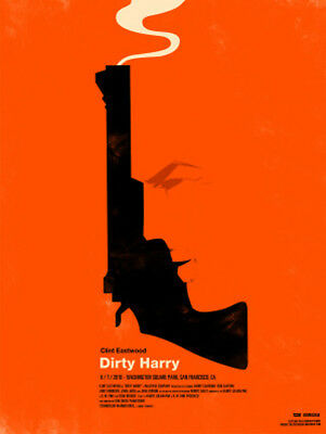 Dirty Harry Movie Poster Canvas Premium Quality A0 A1 A2 A3 A4