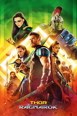 Thor Ragnarok 3 Movie Poster Canvas Picture Art Print Premium Quality A0 - A4
