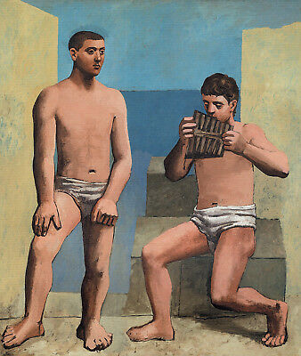 The Pipes of Pan 1923 Picasso Poster Canvas Picture Art Print Premium QualiA0-A4