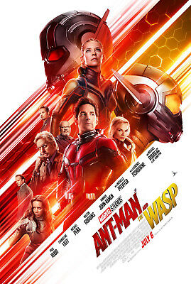 Antman and The Wasp 1 Movie Poster Canvas Picture Art Print Premium  A0 - A4