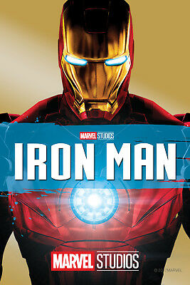 Iron Man ver 1 Movie Poster Canvas Picture Art Print Premium Quality A0 - A4