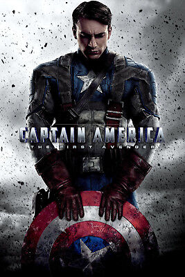 Captain America The First Avenger 3 Movie Poster Canvas Picture Print A0 - A4