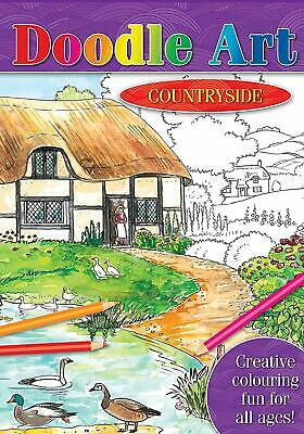 Brown Watson - A4 Colour Art Colouring Book - Over 20 Countryside Scenes