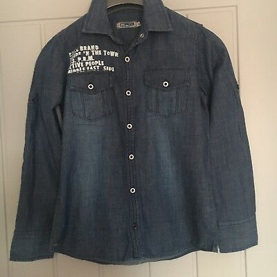 CRB Boys Denim Shirt 152 Approx 10 Years Old