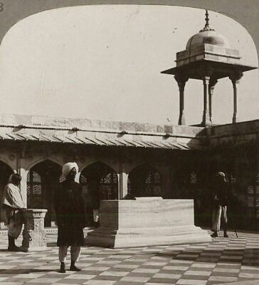 India. Tomb of Akbar, The Great Mughal, Agra. India Through the Stereoscope