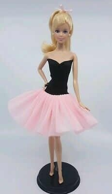 New Barbie doll clothes outfit princess  cocktail ballet dress pink tutu