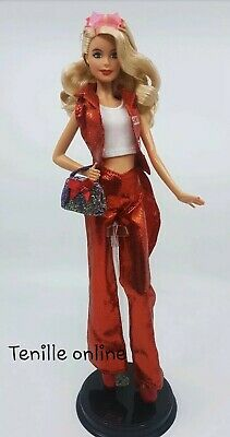New Barbie clothes complete outfit tuxedo red wedding fashion shoes shiny purse