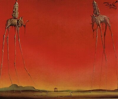The Elephants Salvador Dali - Poster Canvas Art print A4 A3 A2 A1 new best cheap