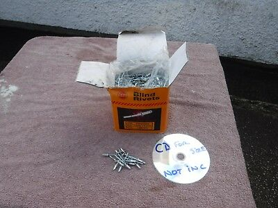 BLIND POP  RIVETS. 4.0mm  X  8.5mm.  1000 approx. NEW OLD STOCK.  FREE  DELIVERY