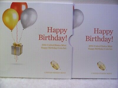 2016 Happy Birthday 5 Coin Set Us Mint Great Deal $$💰💎✪