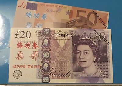 Fake Bank Notes PLAY MONEY £20 Note +50eu BanknotePretend GBP This Is For 2notes