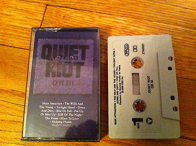QUIET RIOT QR III Vintage Heavy Metal Cassette Tape Wild And The Young Rise Fall