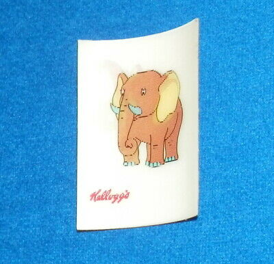 c1970's Kellogg's Made in Japan Elephant 3D Lenticular Cereal Prize