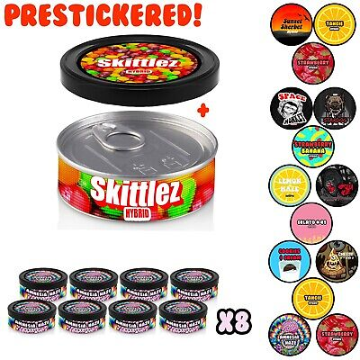 PRESS IT IN TINS / TUNA TINS / CALI TINS Medical Stardawg Stickers Tubs ONLY UK