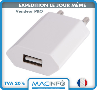 Chargeur Secteur Universel 1A USB Apple Samsung Nokia HTC Huawei Sony Xperia LG