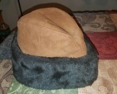 035a5bba447 SHEARLING HAT-VINTAGE SHEARLING Hat from Italy-Size Small- -  42.00 ...