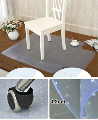 NON-SLIP Spiked Premium Chair Mat Carpet Protector For Home/Office 90x120cm UK