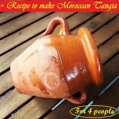 Moroccan Traditional cooking, Tangia Marrakchia for 4 people, 100% handmade