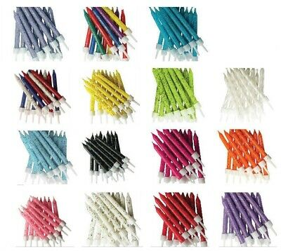 12 x Birthday / Party Cake Candles Range of Premium Quality Colours Available