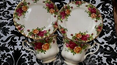Royal Albert England Old Country Roses Tea Cup and Saucer England Minty lot of 2