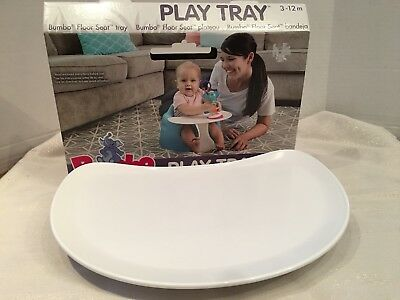 Bumbo Play Tray - NEW Floor Seat Tray Only Ivory 3-12 Mo Box included
