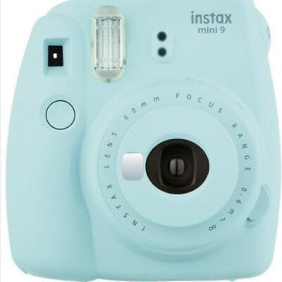 Fuji Instax Mini 9 Fujifilm Instant Film Camera Ice Blue (Certified Refurbish)