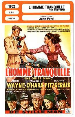 FICHE CINEMA : L'HOMME TRANQUILLE - Wayne,O'Hara,Ford 1952 The Quiet Man