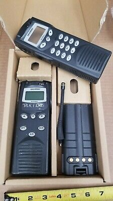 Harris P7200 Handheld Radio Combo W/ Battery, Antenna, & New Face with Dial Pad