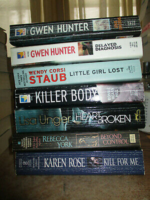 Lot of 7 MYSTERY SUSPENSE THRILLERS BY VARIOUS WOMEN AUTHORS