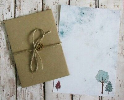 Letter Writing Paper and Envelopes Stationery Set Penpal Gift Tree Design
