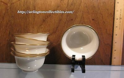 Vintage ☆ LENOX Bouillon Liners ☆ Decoration #86 Cream, Gold Trim ☆ 4 AVAILABLE