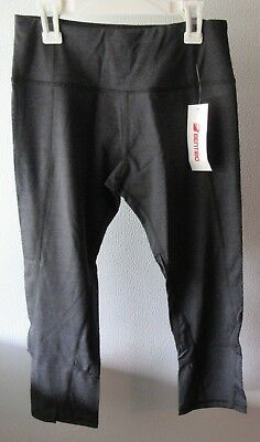 4b0d851b8b9857 Bentibo 3/4 Capri Pants Athletic Cropped Yoga Running Workout Size Small  Black