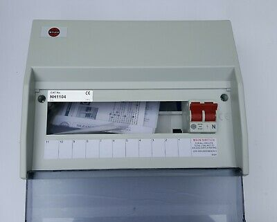 Wylex 11 Way Insulated Consumer Unit 100A Main Switch NH1104
